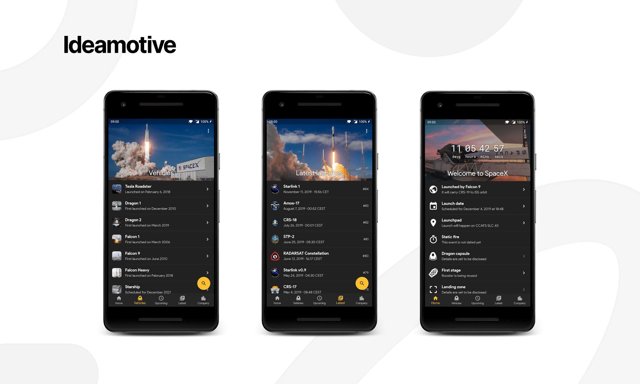 amazing examples of flutter mobile development spacex go