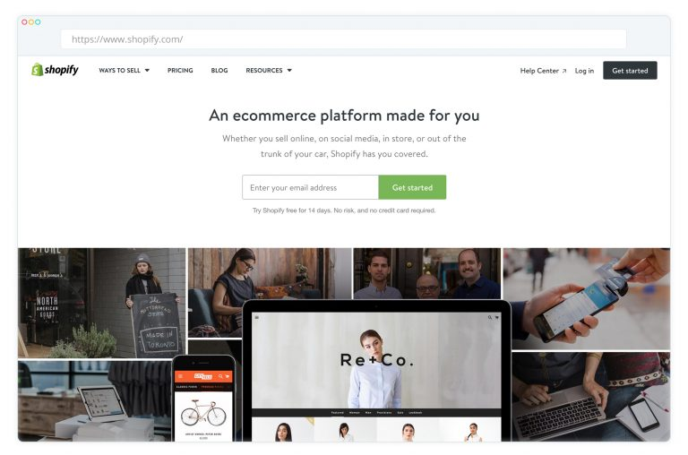 Shopify ecommerce platform is a great example of ecommerce web development in Ruby
