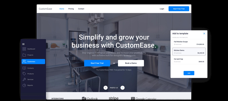 CustomEase - Case study hero desktop